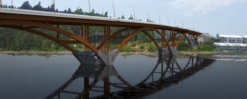 Portlands Sellwood bridge will be replaced over the next two-and-a-half years to create a bridge that is better able to respond to seismic events. Photo  Sellwood Bridge Project.